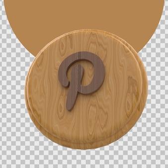 3d-weergave van het logo van pinterest