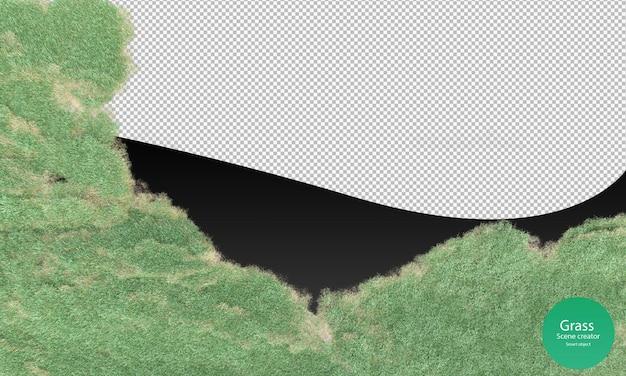 3d-weergave van het maaien van het grasveld