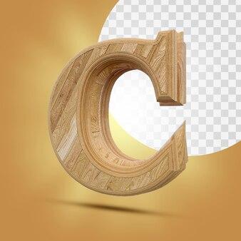 3d-weergave van houten alfabet geïsoleerd