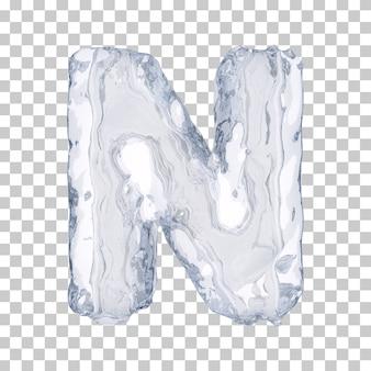 3d-weergave van ijs alfabet n