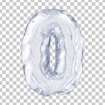 3d-weergave van ijs nummer 0