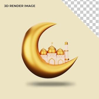 3d-weergave van islamitische decoratie