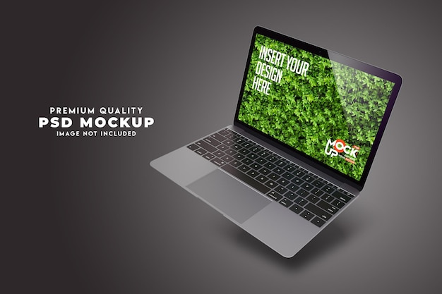 3d-weergave van laptop. mockup-ontwerp premium psd