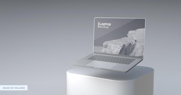 3d-weergave van laptop mockup