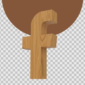 3d-weergave van logo van facebook