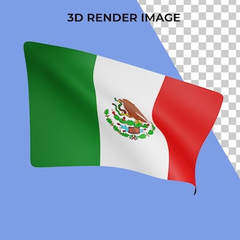 3d-weergave van mexico vlag concept mexico nationale feestdag