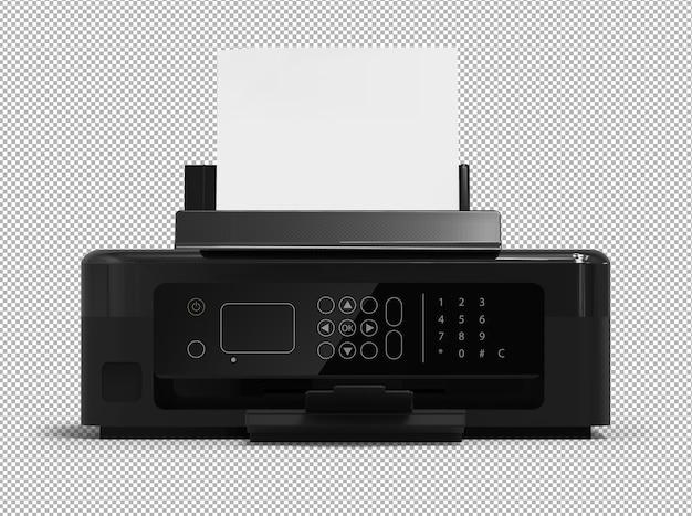 3d-weergave van moderne printer geïsoleerd