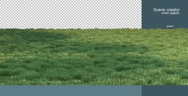 3d-weergave van natuur landschap rendering