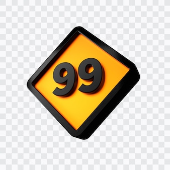 3d-weergave van nummer 99