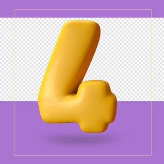 3d-weergave van nummer