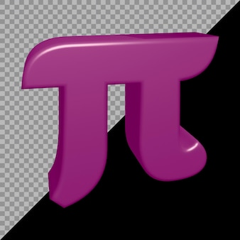 3d-weergave van pi-symbool