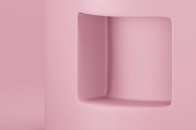 3d-weergave van podium in minimalistisch design podium podium showcase