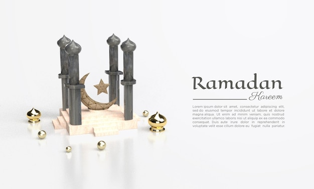 3d-weergave van ramadan kareem