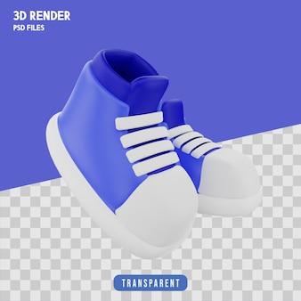 3d-weergave van schoenen geïsoleerd premium