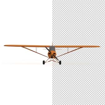 3d-weergave van vliegtuig geïsoleerd