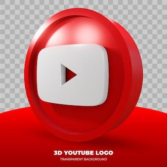 3d-weergave van youtube-logo geïsoleerd