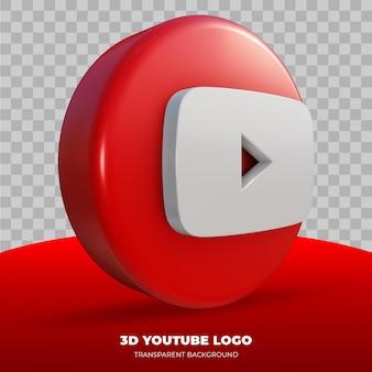 3d-weergave van youtube-logo