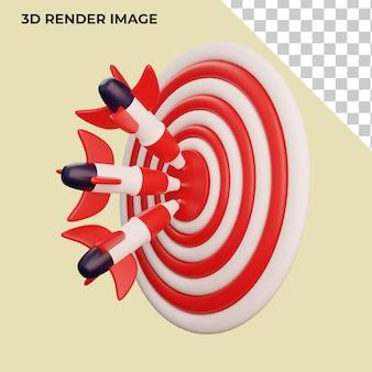 3d-weergave van zaken met doelconcept