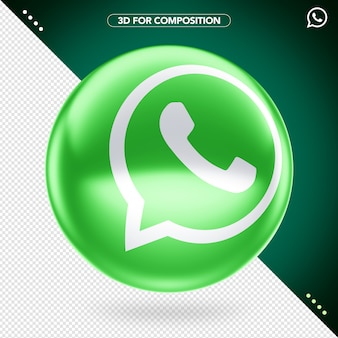 3d whatsapp-logo