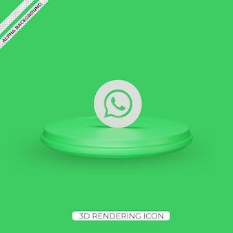 3d whatsapp render pictogram geïsoleerd