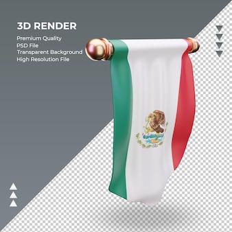 3d-wimpel mexico-vlag die linkermening teruggeeft