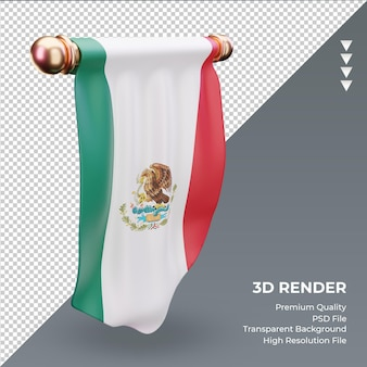 3d-wimpel mexico vlag rendering juiste weergave