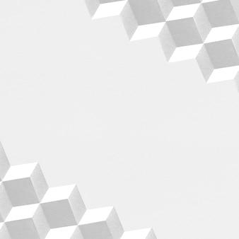 3d witboek ambachtelijke kubieke patroon achtergrond