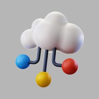 3d-wolk voor gegevensopslag