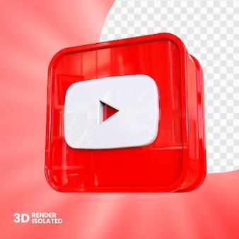 3d youtube-app-knopontwerp