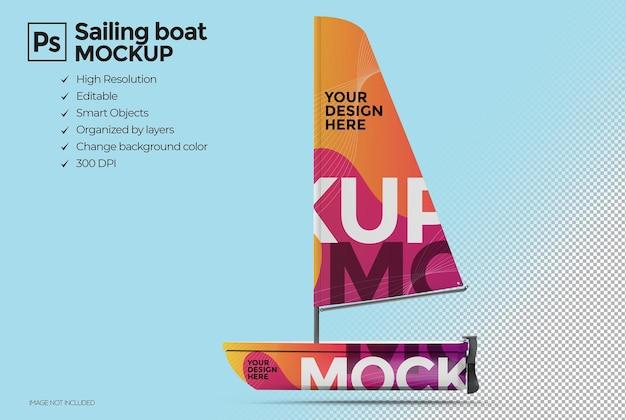 3d-zeilboot mockup-ontwerp