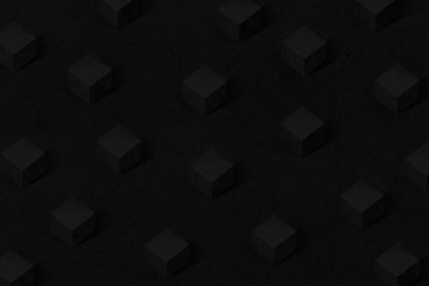 3d zwart papier ambachtelijke kubieke patroon achtergrond