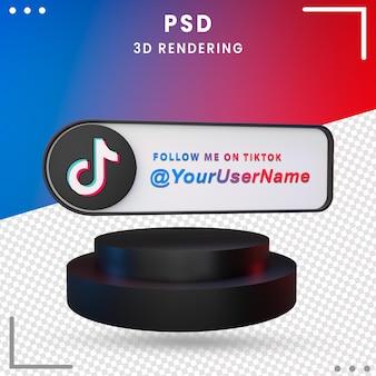 3d-zwarte mockup icon tiktok design