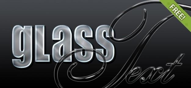 4 free glas photoshop styles