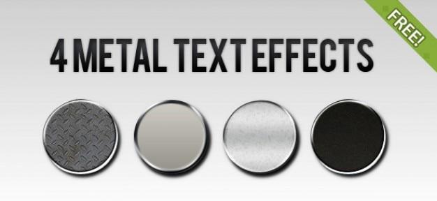 4 free metallo effetto di testo stili