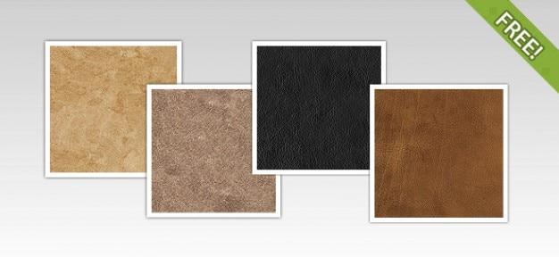 4 free texturas de cuero
