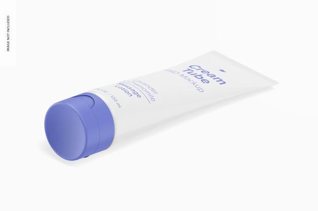 4 oz cream tube mockup, isometrische linkeraanzicht