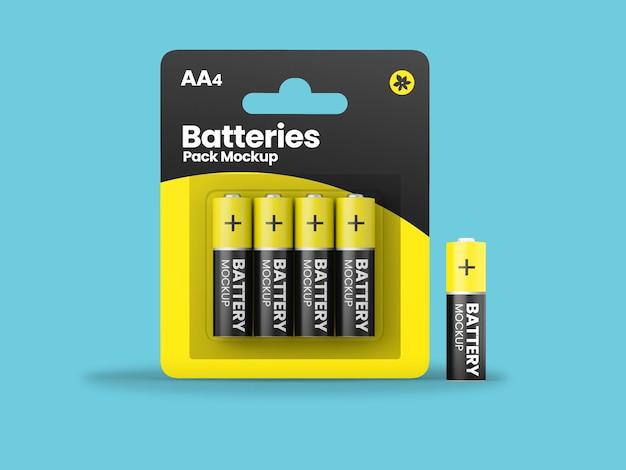 4-pack batterij aa-model
