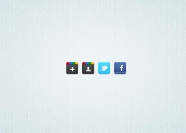 4 social media iconen