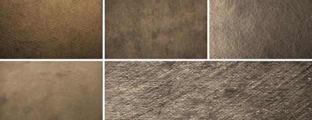 5 de alta resolución de texturas de papel sucio