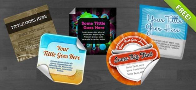 5 gratis psd stickers