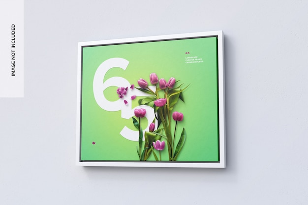 6: 5 liggend frame mockup in right view