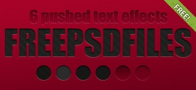 6 efectos de texto gratis empujado