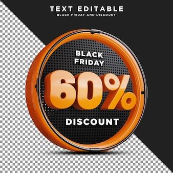 60 procent korting black friday psd-sjabloon