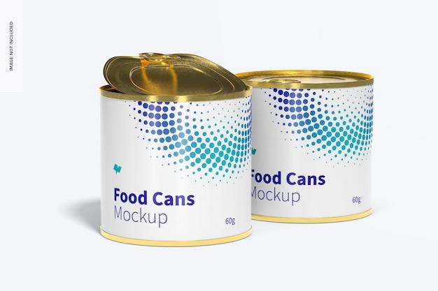 60g voedselblikken mockup