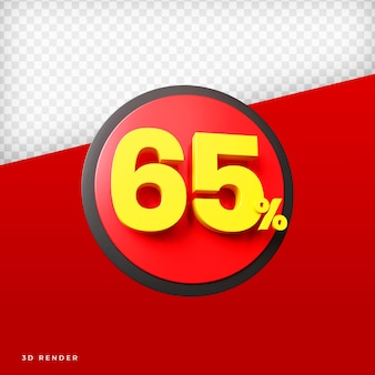65 procent 3d-weergave