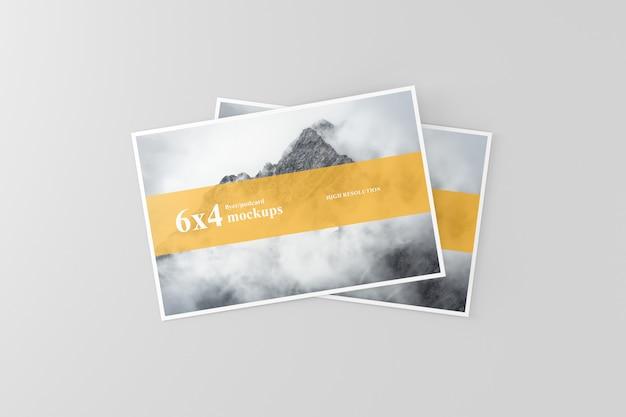 6x4 cartolina evento mockup