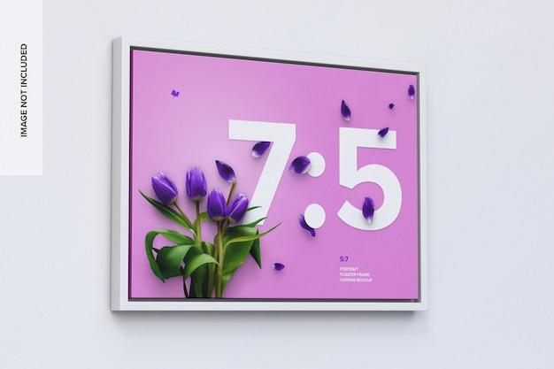 7: 5 liggend frame mockup in linker weergave