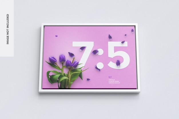 7: 5 liggend frame mockup in onderste vooraanzicht
