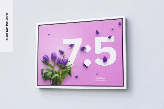 7: 5 liggend frame mockup in right view