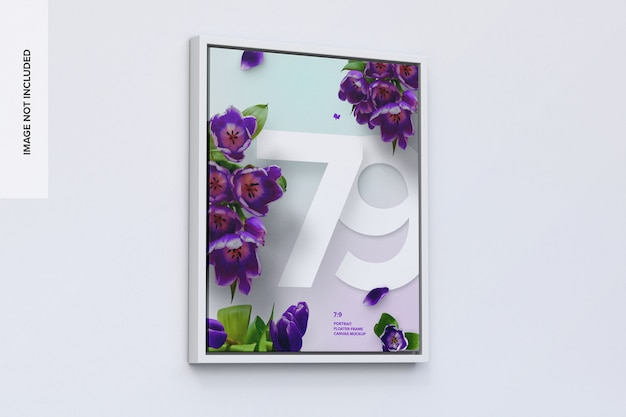 7: 9 staand frame mockup in linkeraanzicht